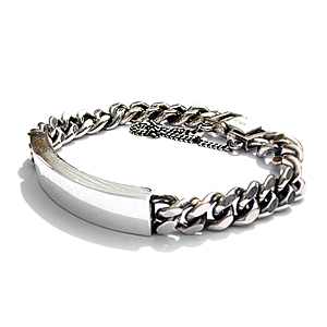 Silver 925 chain bar bracelet[ MADE BY ONESOME ]