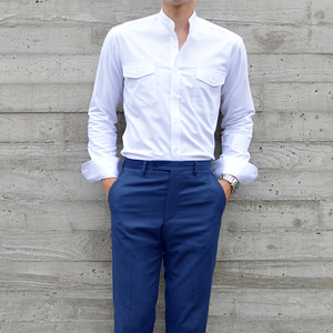 CHINA CALLOR OXFORD SHIRTS (White)[MADE BY ONESOME]