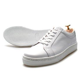 full grain sneakers (White)[cow skin / hand made]