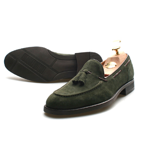 suede loafer shoes (Khaki)