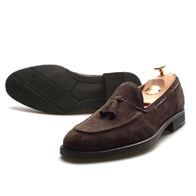 suede loafer shoes (Brown)