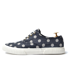 minimal canvas sneakers (Blue Dot)