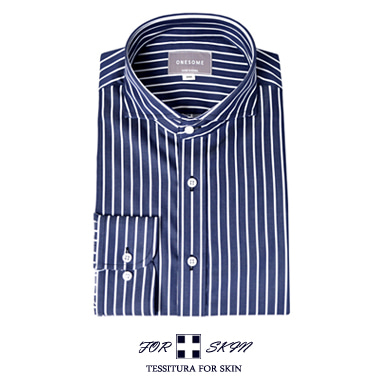 Martin stripe shirts (Navy)[MADE BY ONESOME]