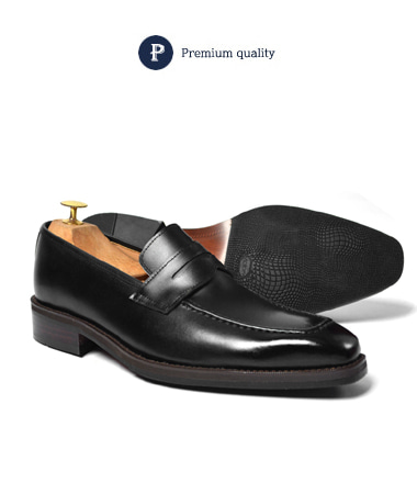 Mores penny loafer shoese (Black)